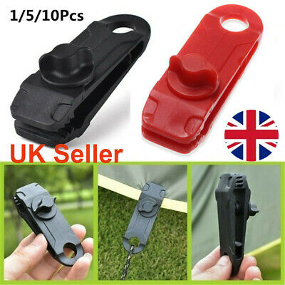 Reusable Tent Tarp Tarpaulin Clip Clamp Buckle Camping Tool Heavy Duty UK • 8.64£