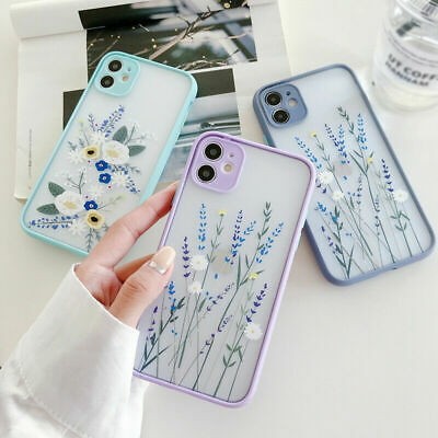 AU9.98 • Buy For IPhone 12 11 Pro Max XS XR X 8 7 Plus SE Flower Leaf Hard Phone Case Cover