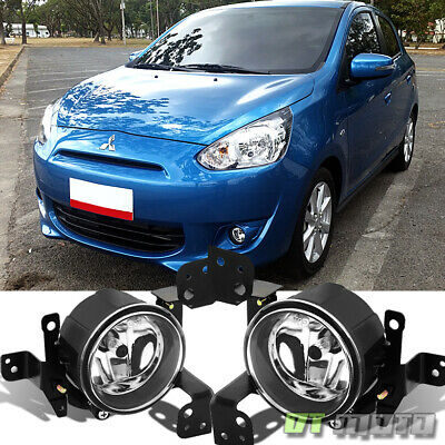$61.99 • Buy 2014-2015 Mitsubishi Mirage Glass Bumper Fog Lights Lamps W/Switch Left+Right