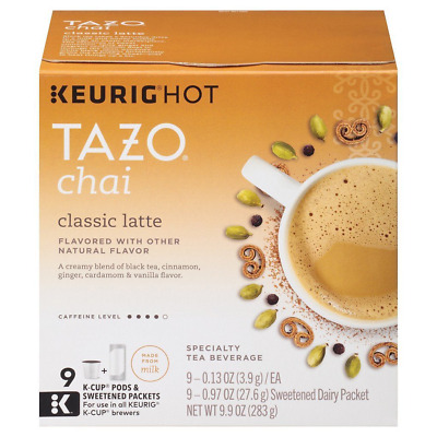 Tazo Chai Latte Black Tea, K-Cup, 9 Ct (Packaging May Vary) • 20.16£