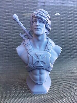 """$24.60 • Buy 3d Printed He-Man Masters Of The Universe 7.5"""" Bust"""