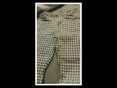 £15 • Buy Womens Checkered Skinny Jeans Size 12