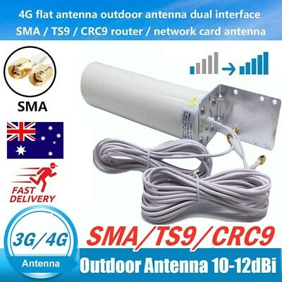 AU35.99 • Buy Dual SMA Male 3G/4G LTE Outdoor Fixed Bracket Wall Mount Signal Booster Antenna*