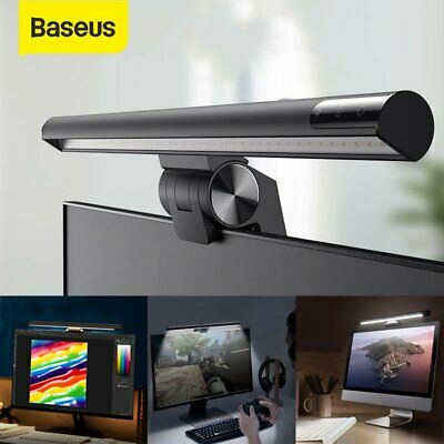 AU47.49 • Buy Baseus LED Desk Lamp Reading Bar Computer Touch Dimmable Monitor Screen Light