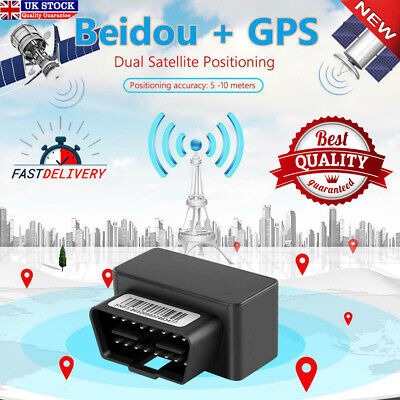 OBD II GPS Tracker Car GSM 16 Pin OBD2 Tracking Device GPS+Beidou Locator • 12.99£