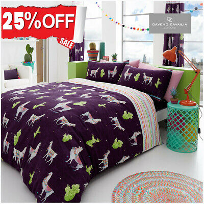Animal Printed Duvet Cover Reversible Quilt Soft Bedding Set Double King Size UK • 13.99£