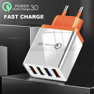 AU11.49 • Buy 4 Ports QC 3.0 Fast Quick Charger USB Hub  100-240V Wall Charge Power Adapter AU