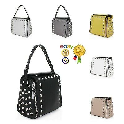 £18.99 • Buy New Women's Stylish Studded Top Handle Hand Bag/Shoulder Bag With Chain Strap