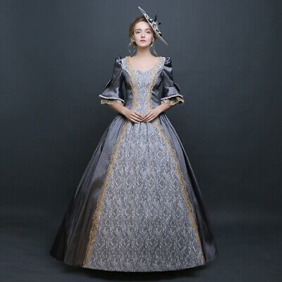 £65.31 • Buy Womens Victorian Period Ball Gown Theare Cosplay Lace Up Dress Palace Costumes F