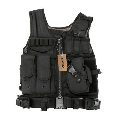$31.98 • Buy Military Vest Tactical Plate Carrier Holster Molle Modular Combat Gear Hunting