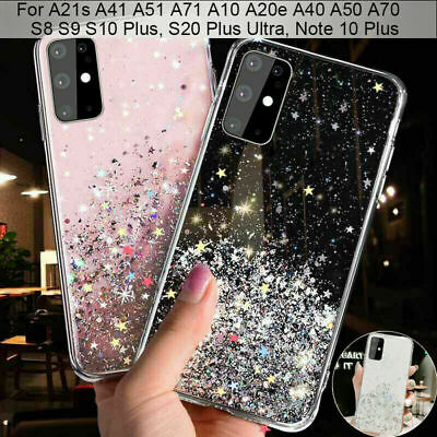 For Samsung Galaxy A21s A51 A71 S20 FE Sparkling Shockproof TPU Soft Phone Case • 3.89£