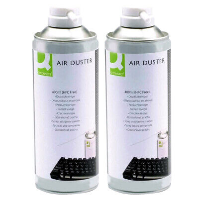 2 X Q Connect Compressed Gas Air Duster 400ml Can For Cleaning Computer Keyboard • 10.99£