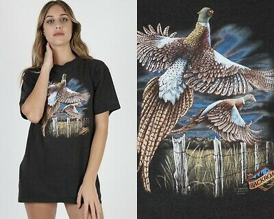 $ CDN134.06 • Buy Vintage 1988 Backroads 3D Emblem Bird Hunting Country Black 50 50 T Shirt
