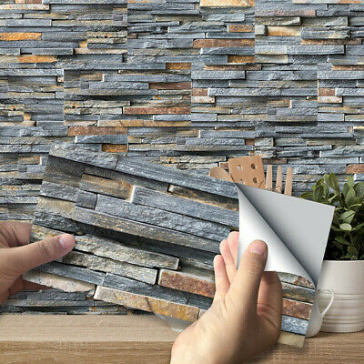 High Quality 9pcs Removable Self-adhesive Tile Stick - Kitchen Wall Tiles Brick • 6.63£