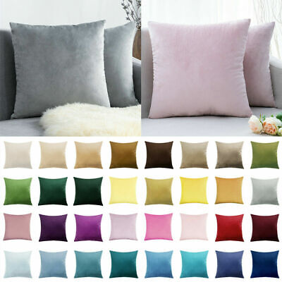 Velvet Cushion Cover Pillow Cover Pillowcase Home Decorative Sofa Pillow Cover • 2.89£