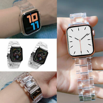 AU17.99 • Buy Transparent Resin Band IWatch Strap Bracelet For Apple Watch Series 6/5/4/3/2/1