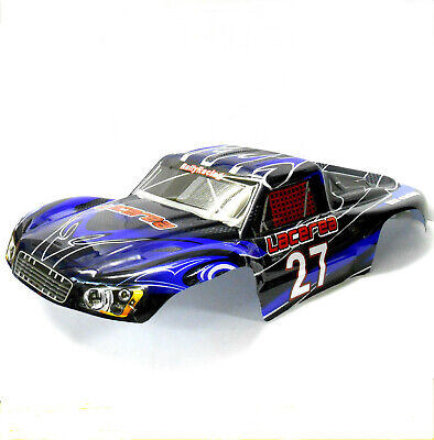 73907 HSP 1/8 Scale Monster Truck Truggy Body Shell Black And Blue Short Course • 26.99£