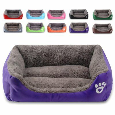 Pet Dog Cat Bed Mat Puppy Cushion Soft Warm House Kennel Mat Blanket Washable UK • 14.86£