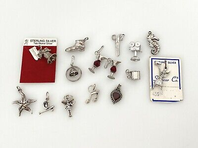 $ CDN13.20 • Buy Vintage Sterling Silver Charms Lot Collection 20.4 Grams Figural Travel Ocean