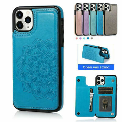 AU13.98 • Buy IPhone 12 11 Pro Xs Max 7 8 Xr SE Case Magnetic Flip Leather Wallet Cards Cover