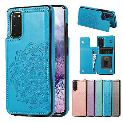 AU12.98 • Buy Samsung S21 Note 20 Ultra S10 S9 8 Case Magnetic Flip Leather Wallet Cards Cover