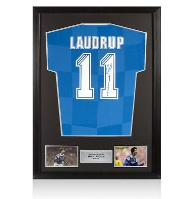 £329.99 • Buy Framed Brian Laudrup Signed Rangers Shirt - Number 11 Autograph Jersey