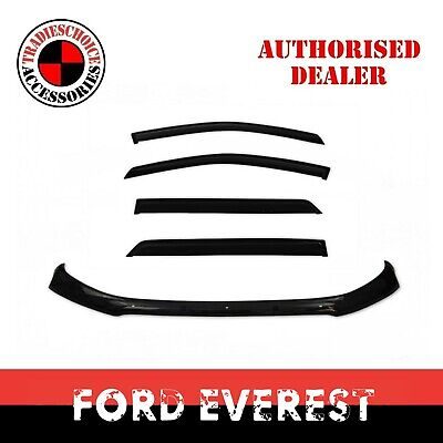 AU109.99 • Buy Bonnet Protector + Weather Shields To Suit Ford Everest 2015-2020 Window Visors