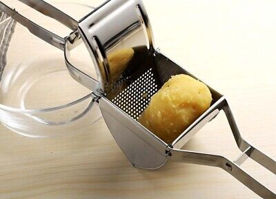 New Large Stainless Steel Potato Ricer Masher Fruit Press Juicer Crusher Squeeze • 11.29£