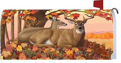 $18 • Buy Fall Autumn Tree Leaves Deer Magnetic Mailbox Cover