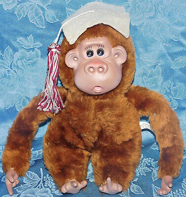 "$ CDN62.34 • Buy Vintage Russ 10"" Plush Thumb And Toe Sucking Monkey Rutherford GRADUATION RARE"