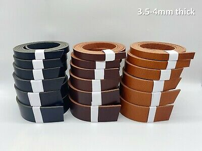 Veg Tan Leather Belt Blanks Strip Strap 3.5-4mm Thick 20mm/25mm/40mm 47'' Long • 8.75£