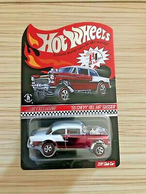 $298 • Buy Hot Wheels RLC Exclusive '55 Chevy BEL AIR GASSER, Red/White W/Button #03283