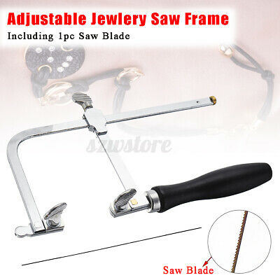 Adjustable Jewellers Piercing Saw Frame Jewellery Making Tool Or 12 Saw Blade • 8.38£
