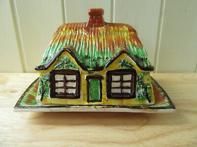 Vintage Pretty House/cottage Butter Dish Price Bros?? Made In England Pottery • 9.99£