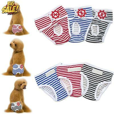 £5.83 • Buy Physiological Pants For Female Dogs Pet Cat Dog Sanitary Nappy Diaper Underwear