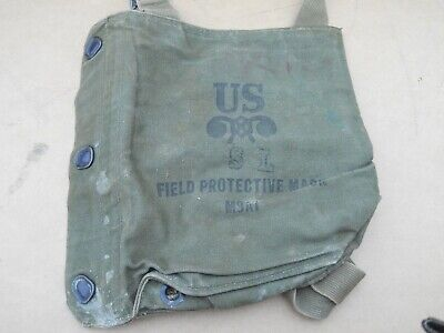 $14.99 • Buy Vintage WWII WW2 US MILITARY FIELD PROTECTIVE GAS MASK BAG M9A1 SL POUCH Strap