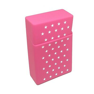 Silicone Cigarette Case Pack Cover King Size Holder Accessory White Stars Pink • 4.99£