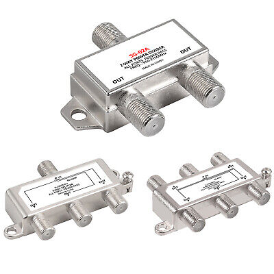 2/3/5 Way F Type Satellite Splitter TV Virgin Cable Sky Freeview Screw Connector • 10.05£