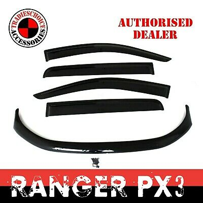 AU109.99 • Buy Bonnet Protector + Window Visors Weathershields To Suit Ford Ranger PX 2 3 15-20