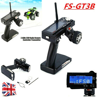 Flysky FS-GT3B 2.4GHz 3 Channels Control Transmitter & Receiver For RC Car Boat • 28.49£