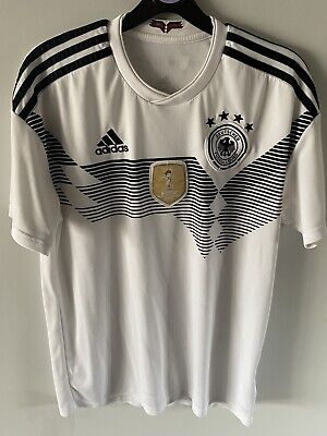 Germany Mens 2018-19 Adidas Home Football Shirt. BNWT. Die Mannshaft. Size Small • 12£