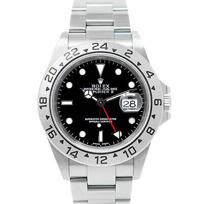 $ CDN11088.25 • Buy Rolex Explorer II Stainless Steel 16570 Wristwatch - Black Dial