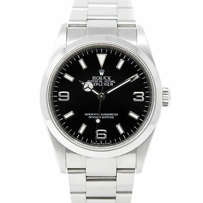 $ CDN9866.12 • Buy Rolex Men's Explorer Stainless Steel 114270 Wristwatch - Black Dial