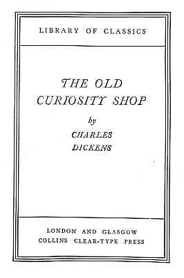 £9.48 • Buy The Old Curiosity Shop (Collins Library Of Classics), Dickens, Charles, Good Con