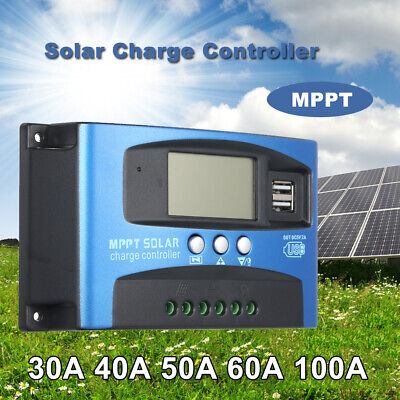 MPPT Solar Charge Controller Dual USB LCD Auto Solar Cell Panel Charger UK V1Y5 • 19.49£