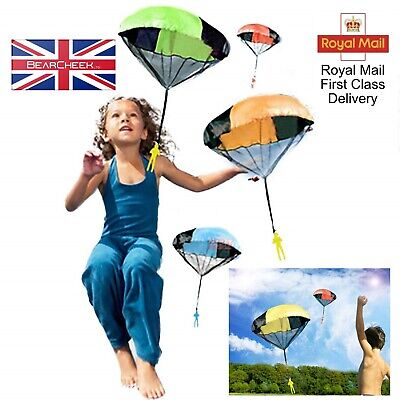 Toy Soldier Parachute Mini Play Indoor Outdoor Sports Fun For Children • 5.99£
