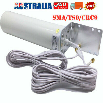 AU39.99 • Buy Dual SMA Male 3G/4G LTE Outdoor Fixed Bracket Wall Mount Signal Booster Antenna