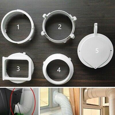 AU17.01 • Buy Portable Air Conditioner Window Exhaust Duct Pipe Hose Interface Connector