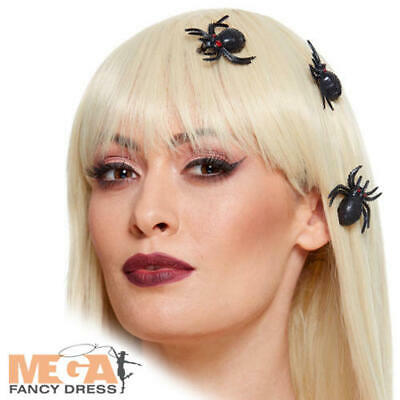 Spider Hair Clips Ladies Fancy Dress Halloween Insect Girls Costume Accessory • 7.49£