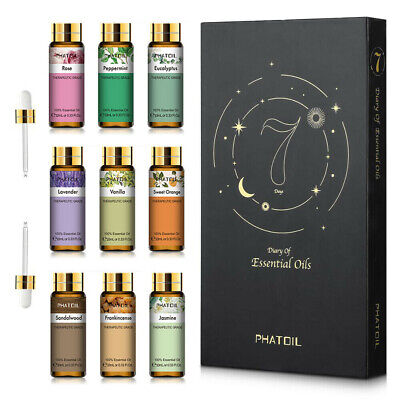 AU25.55 • Buy PHATOIL Pure Essential Oil Set With Dropper Aromatherapy Diffuser Essential Oil
